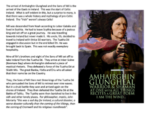 Wave 7 – Amhairghin and the Arrival of the Sons of Mil